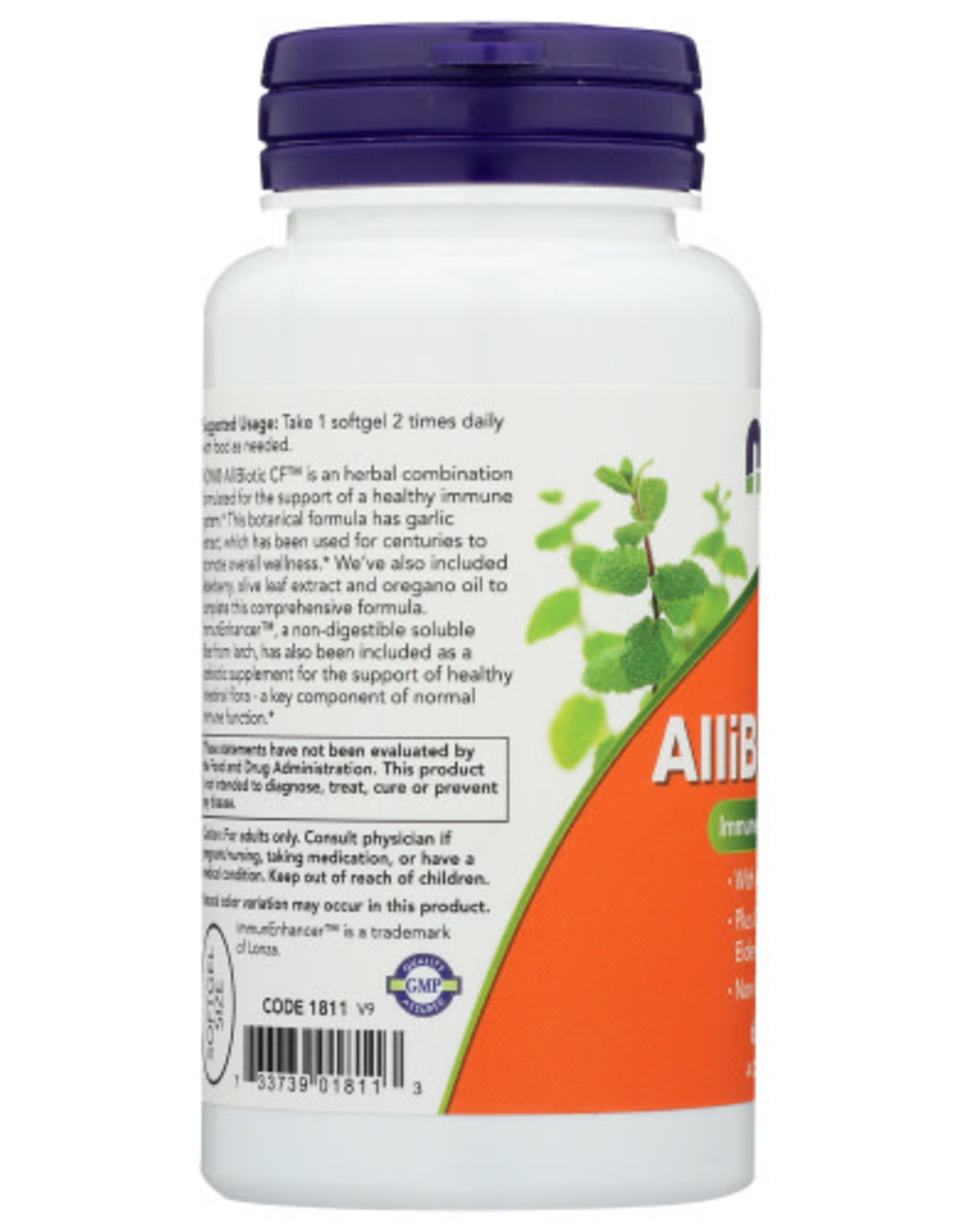 NOW FOODS NOW ALLIBIOTIC CF IMMUNE SYSTEM SUPPORT DIETARY SUPPLEMENT, 60 SOFTGELS