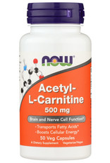 NOW FOODS NOW FOODS ACETYL L-CARN 500 MG, 50 CAPSULES