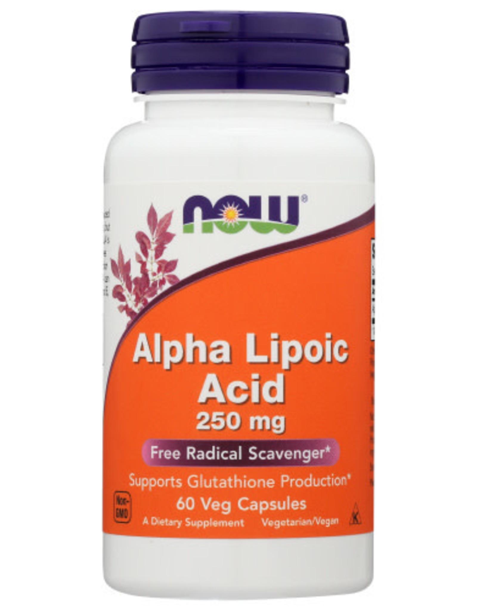 NOW® ALPHA LIPOIC ACID 250 MG, 60 CAPS.