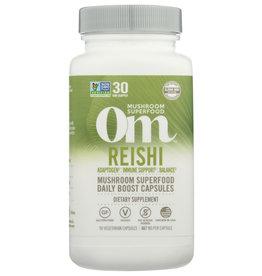 Om Reishi Mushroom Powder 90 Veg Capsules