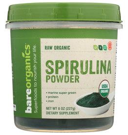 BARE ORGANICS Organic Spirulina Powder 8 oz