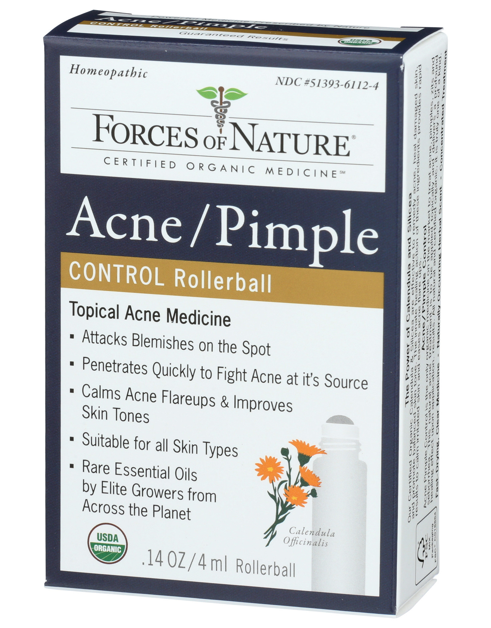 FORCES OF NATURE FORCES OF NATURE ACNE/PIMPLE ROLLERBALL APPLICATOR, 0.14 OZ.