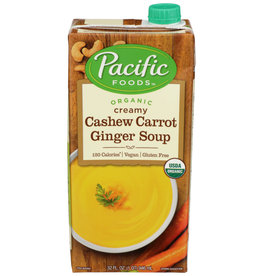 Pacific Foods OG Creamy Cashew Carrot Ginger Soup 32 oz