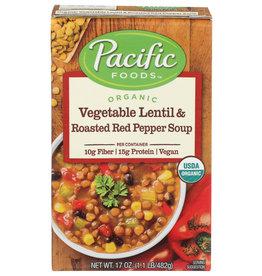 Pacific Foods Organic Vegetable Lentil Roasted Pepper Soup 17 oz