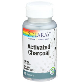Solaray Activated Charcoal 280mg 90 Veg Capsules