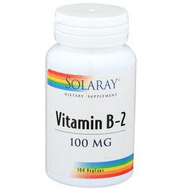 Solaray Vitamin B-2 100mg 100 Veg Capsules