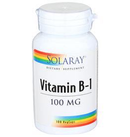 Solaray Vitamin B-1 100mg 100 Veg Capsules