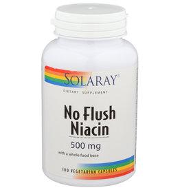 Solrary No Flush Niacin 500mg 100 Veg Capsules