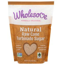 Wholesome Natural Raw Cane Turbinado Sugar 24 oz
