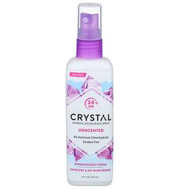 Crystal unscented DEO SPRAY 4 OZ