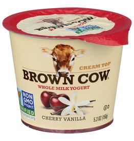 BROWN COW YOGURT WM FOB CHERRY VANILLA 5.3 OZ