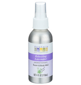 Aura Cacia Lavender Room & Body Mist 4 oz