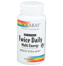 Twice Daily Multi Energy Iron-Free 60 ct Cap