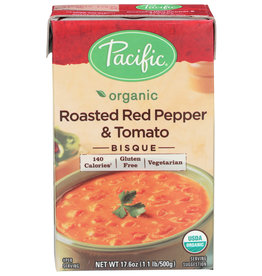 PACIFIC NATURAL FOODS Organic Roasted Red Pepper & Tomato Bisque 17.6 OZ CS 12