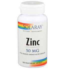 Solaray Zinc Amino Acid Chelate, Veg Cap 50mg 100ct