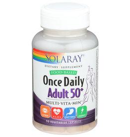 Solaray Once Daily Multiple 50+ for Adults, Veg Cap (Btl-Plastic) 90ct