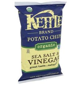 KETTLE FOODS CHIP POTATO SSLT&VNGR ORG 5 OZ