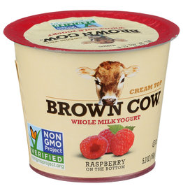 BROWN COW YOGURT WM FOB RASPBERRY 5.3 OZ