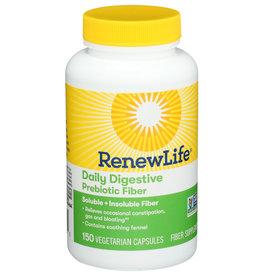 RenewLife Daily Digestion Prebiotic Fiber 150 Veg Capsules