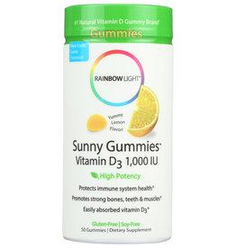 Rainbow Light Lemon Sunny Gummies Vitamin D3 50 Gummies