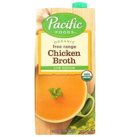 PACIFIC FOODS BROTH CHKN LS ORG 32 OZ
