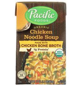 PACIFIC FOODS SOUP CHKN NDL BONE BR ORG 17 OZ