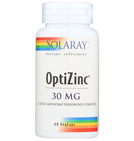 Solaray OptiZinc 30mg 60 Veg Capsules