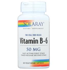Solaray Vitamin B-6 50mg 60 Veg Capsules