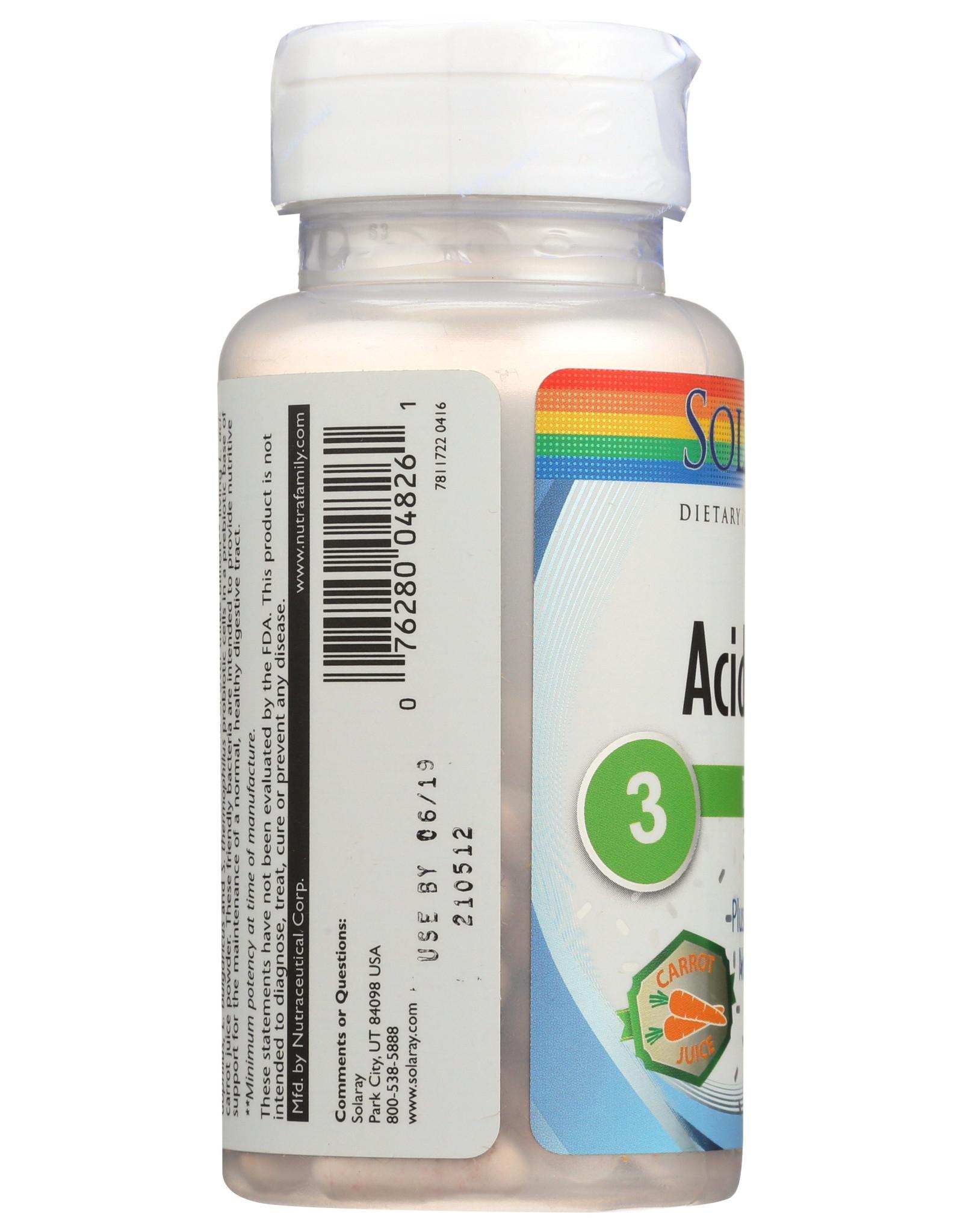 Solaray Vegan Acidophilus 60 Vegetarian Capsules