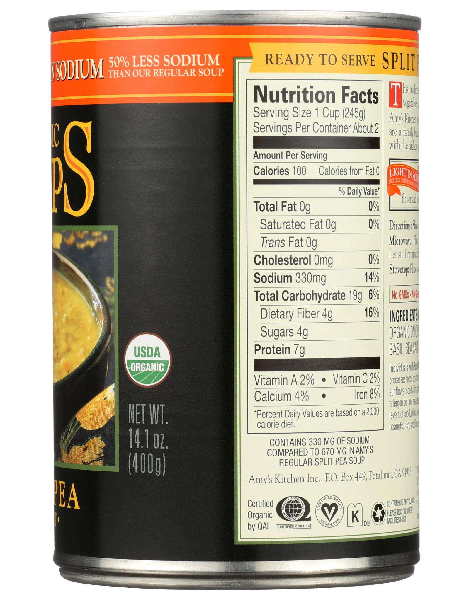 Amys OG Split Pea Soup 14.1 oz