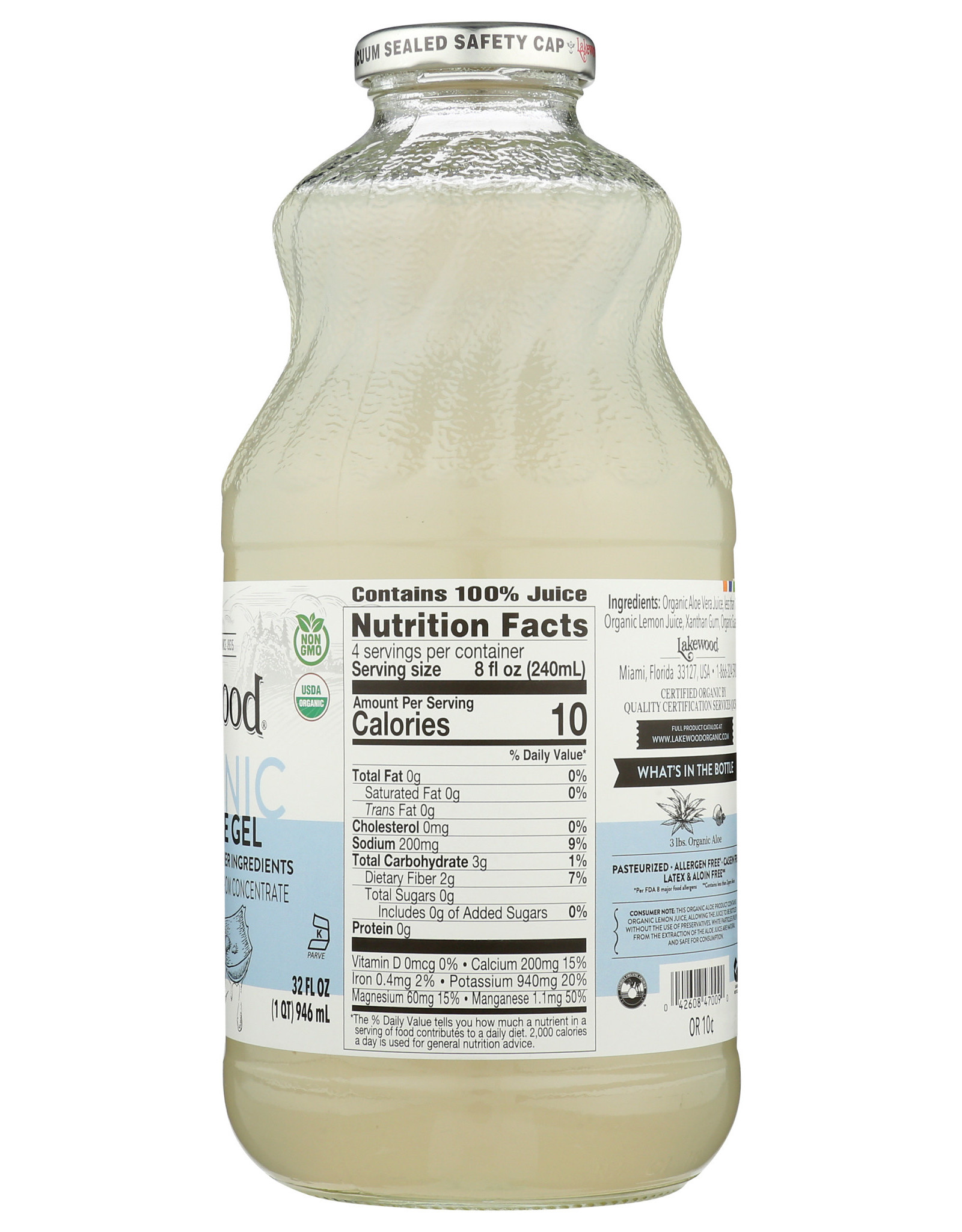 Lakewood Pure Aloe Vera Juice 32 oz