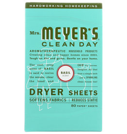 MRS MEYERS CLEAN DAY MEYERS DRYER SHEET BASIL 80 PC