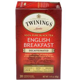 TWINING TEA TEA DCF ENGL BRKFST 20 BG