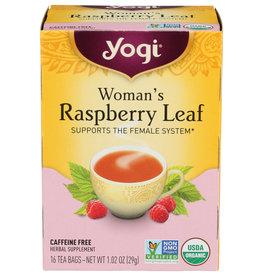YOGI TEAS TEA WOMAN RSPBRY LEAF ORG 16 BG