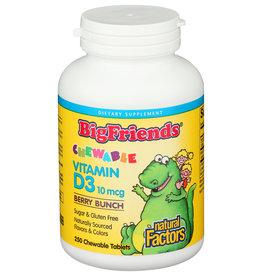 Big Friends Vitamin D3 400 IU Chewable Berry 250/TAB