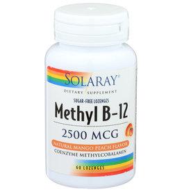 Solaray Methyl B-12, Lozenge, Mango Peach (Btl-Plastic) 2500mcg 60ct