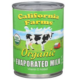 CALIFORNIA FARMS MILK EVAPORATED ORG 12 OZ