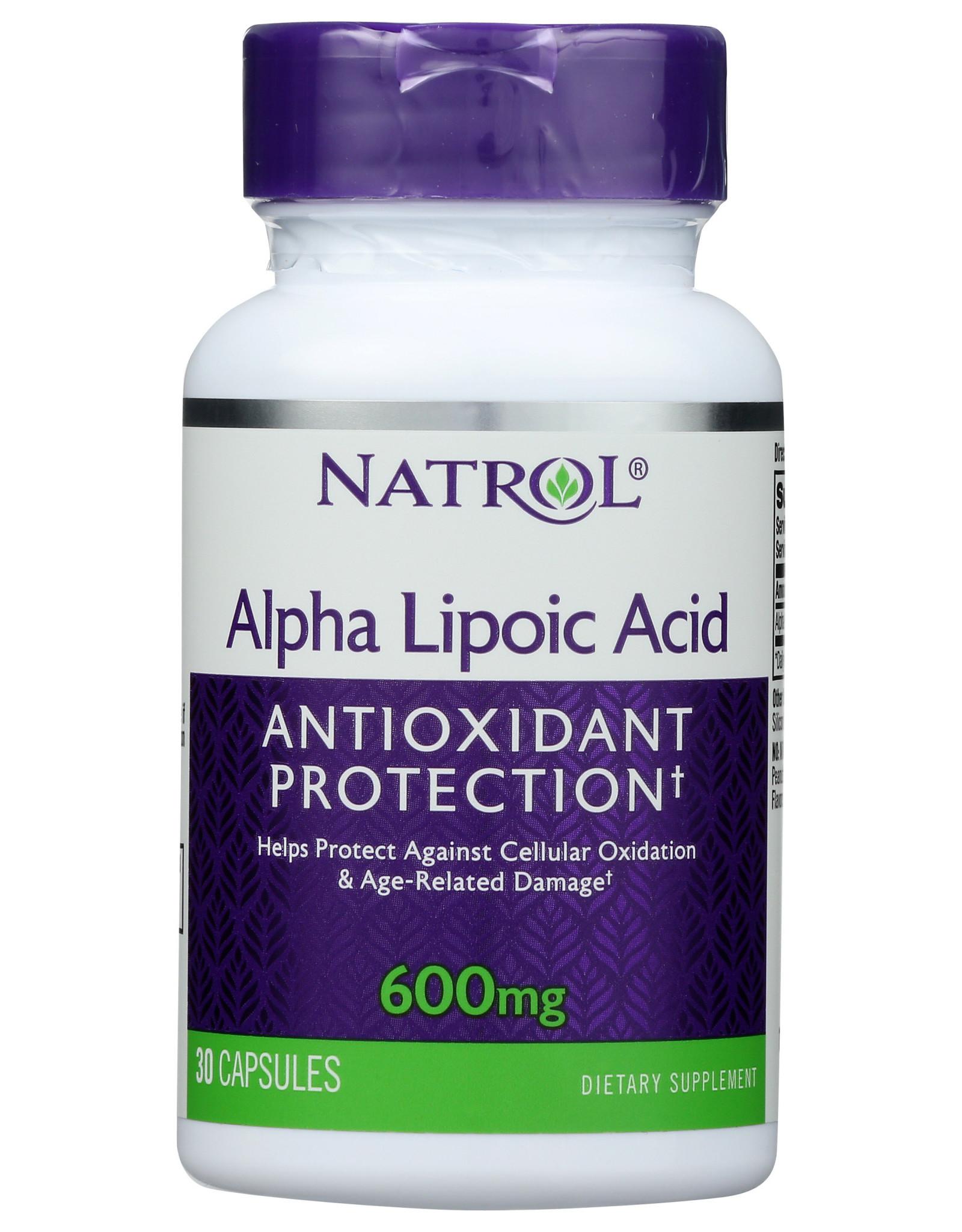 NATROL ALPHA LIPOIC ACID 600MG 30 CAP