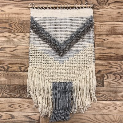 Fibre Wall Hanging - Ivory and Grey