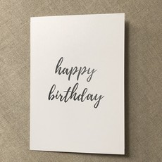 Designer Card - Happy Birthday Script