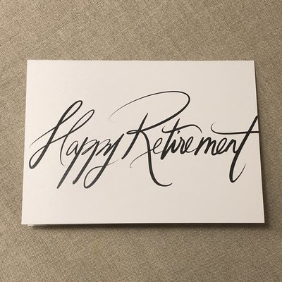 Designer Card - Happy Retirement
