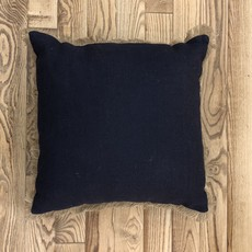 Jute Pillow - Navy