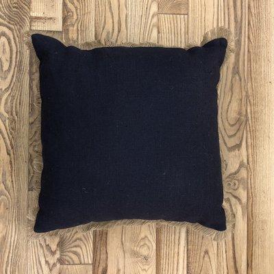 Jute Pillow - Navy