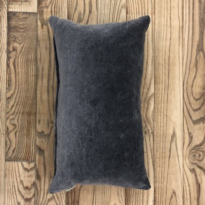 Grey Velvet Lumbar Cushion
