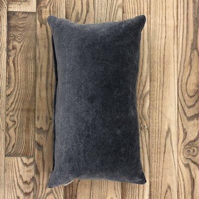 Grey Velvet Lumbar Cushion