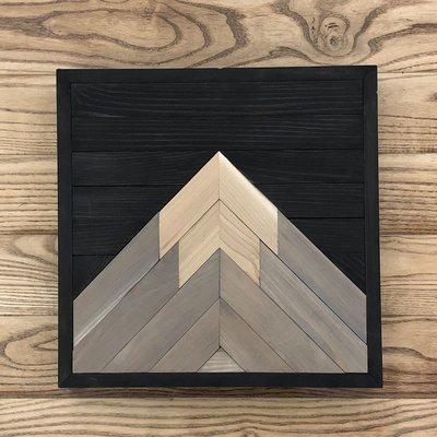Handcrafted Mountain Art - One Peak Mountain - Black