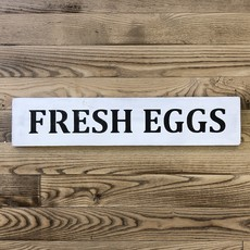 Haven Home & Gift Wood Fresh Eggs Sign - Assorted Colours