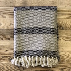 Cotton Blend Knit Throw
