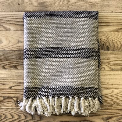 Cotton Blend Knit Throw