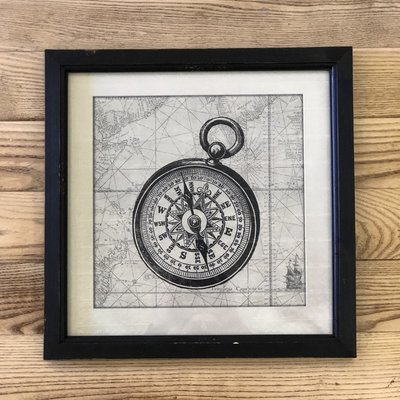 Framed Nautical Picture-Compass